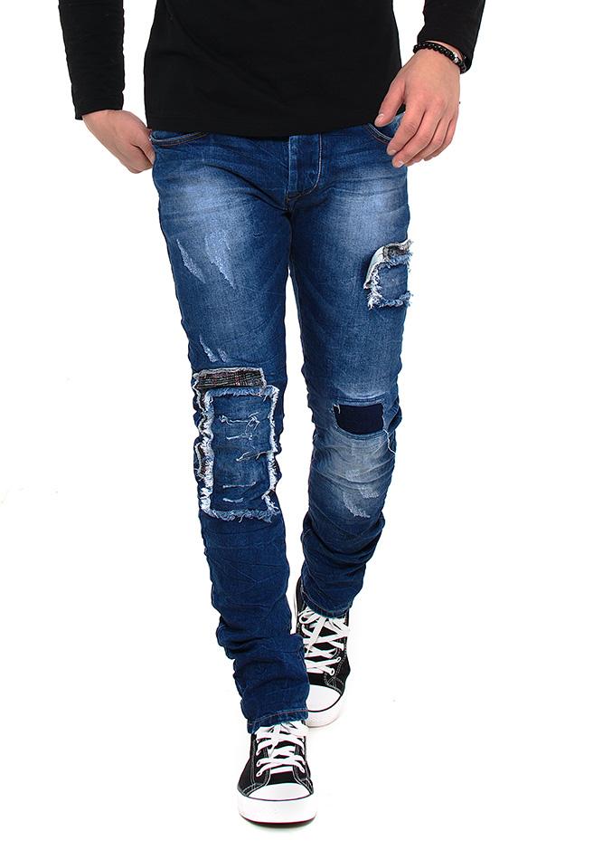 Ανδρικό jean Παντελόνι X-Three Grey Patch