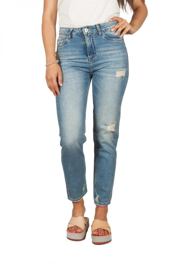 Ryujee Jussy crop jeans παντελόνι