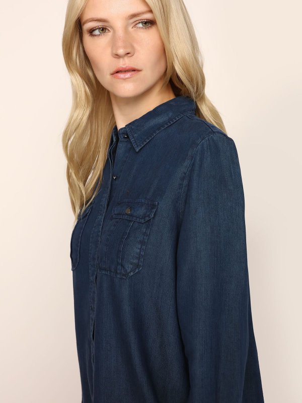 TOP SECRET γυναικειο τζιν πουκαμισο