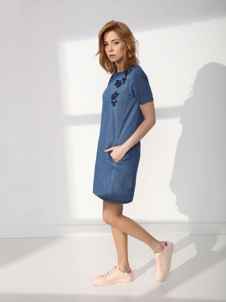 TOP SECRET top secret τζιν φορεμα με κεντημα