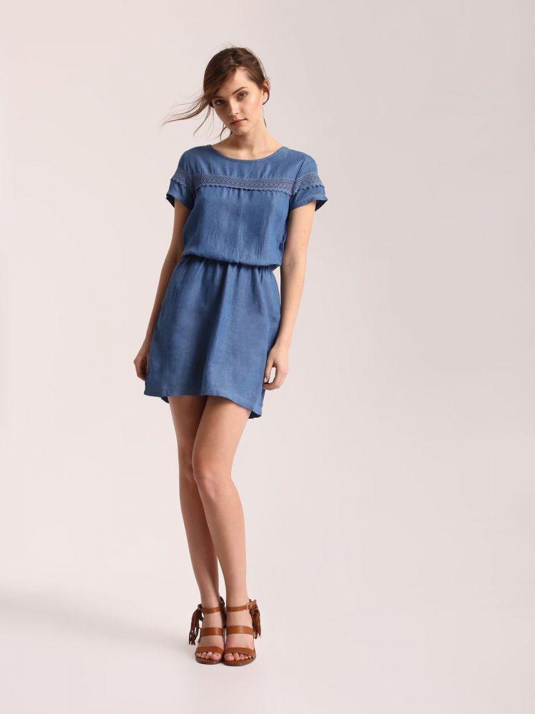 TOP SECRET top secret τζιν φορεμα με δαντελα