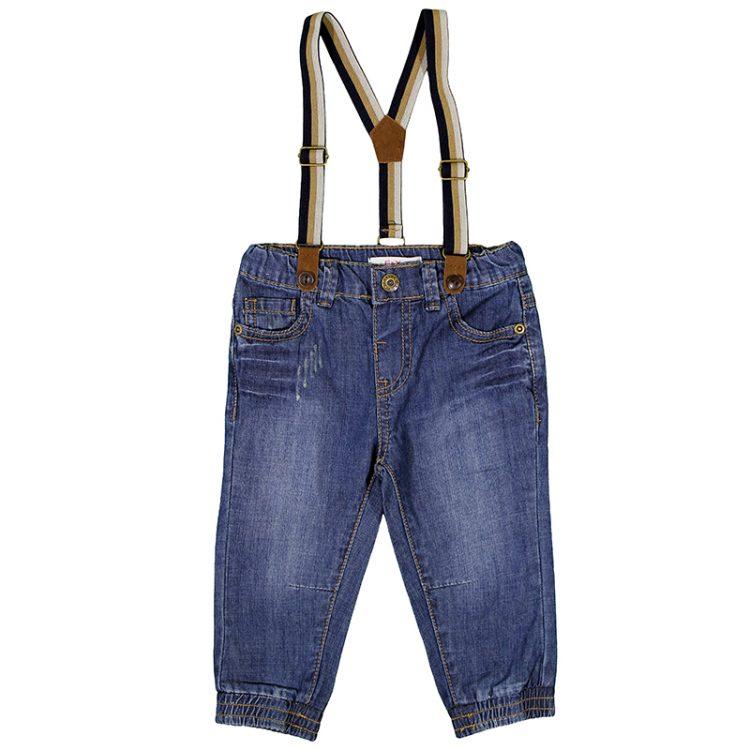 Παντελόνι τζιν με τιράντες (Αγόρι 9 μηνών-3 ετών) 00211641