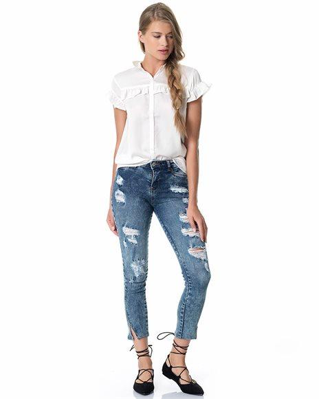 Παντελόνι τζιν skinny - MEDIUM BLUE