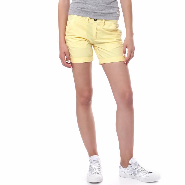 40-WEFT - Γυναικείο σορτς 40 Weft κίτρινο