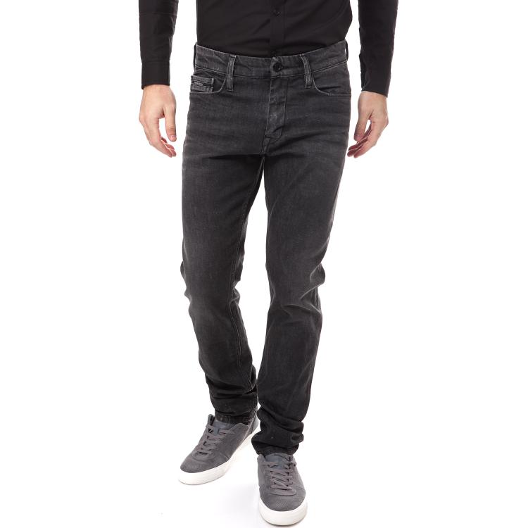 CALVIN KLEIN JEANS - Ανδρικό τζιν Calvin Klein Jeans μαύρο-ανθρακί
