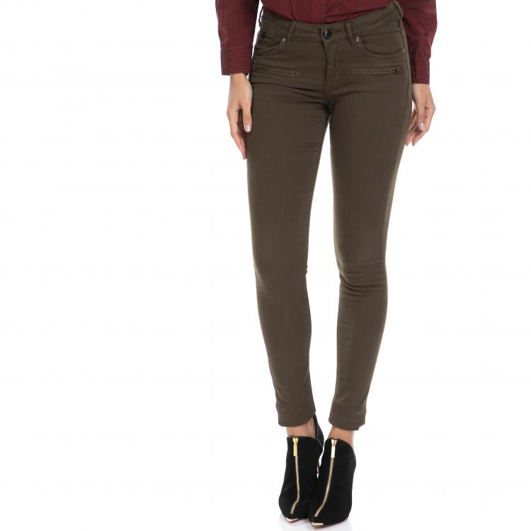 MAISON SCOTCH - Γυναικείο τζιν παντελόνι La Parisienne Zip - La Luna MAISON SCOTCH καφέ