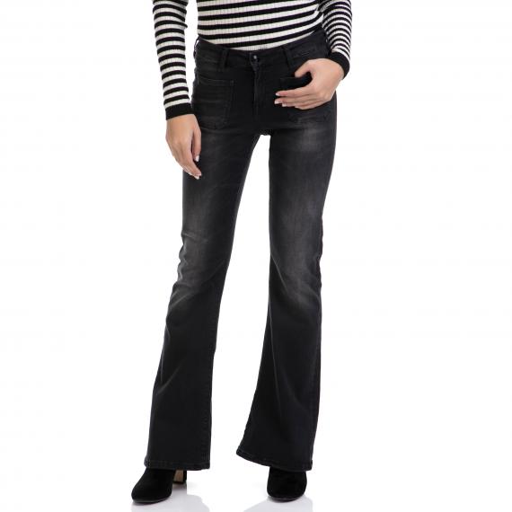 MAISON SCOTCH - Γυναικείο παντελόνι Seasonal high waist Flare - Bl MAISON SCOTCH μαύρο