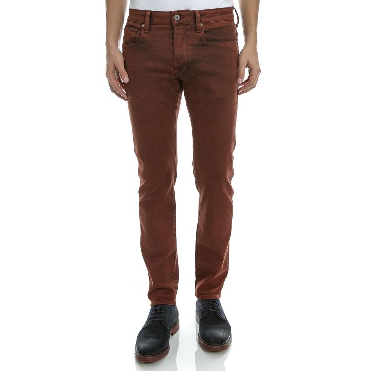 G-STAR RAW - Ανδρικό τζιν παντελόνι G-Star Raw 3301 Slim κόκκινο