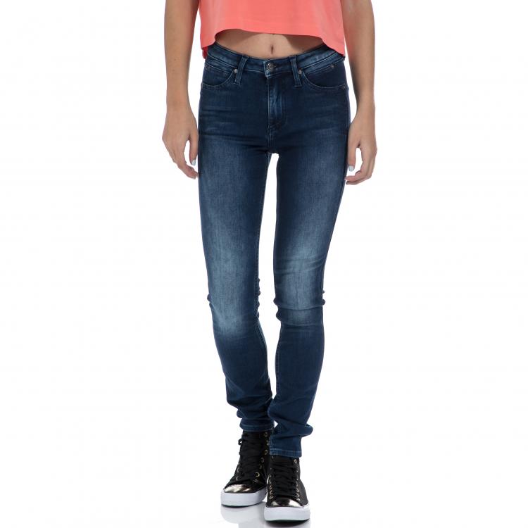 CALVIN KLEIN JEANS - Γυναικείο τζιν παντελόνι CALVIN KLEIN JEANS μπλε