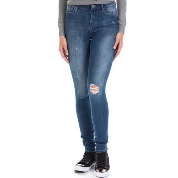 GUESS - Γυναικείο τζιν παντελόνι ANKLE - BLUE BI-STRETCH D GUESS μπλε