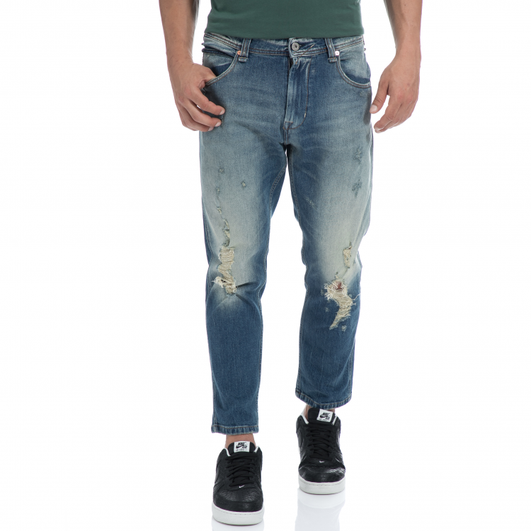 FRANKLIN & MARSHALL - Αντρικό τζιν παντελόνι FRANKLIN & MARSHALL μπλε
