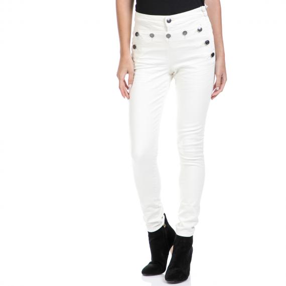 MAISON SCOTCH - Γυναικείο παντελόνι MAISON SCOTCH λευκό