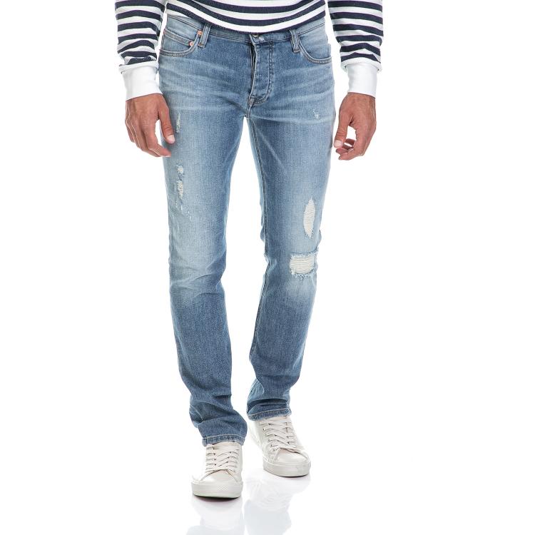 FRANKLIN & MARSHALL - Ανδρικό παντελόνι 5TASCHE LO FRANKLIN & MARSHALL μπλε