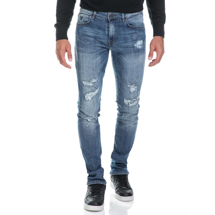 GUESS - Ανδρικό τζιν παντελόνι SKINNY - AUBERGINE STRETCH μπλε