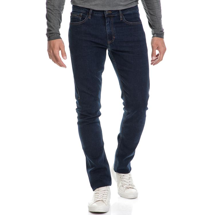 CALVIN KLEIN JEANS - Ανδρικό τζιν παντελόνι Slim Straight Dart μπλε