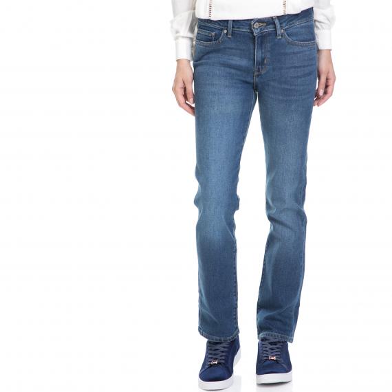 LEVIS - Γυναικείο τζιν παντελόνι 714 STRAIGHT AIRWAVES LEVI'S μπλε
