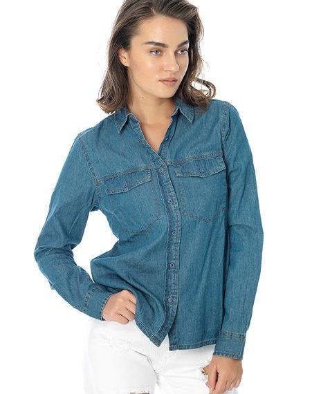 Ντένιμ πουκάμισο - MEDIUM BLUE