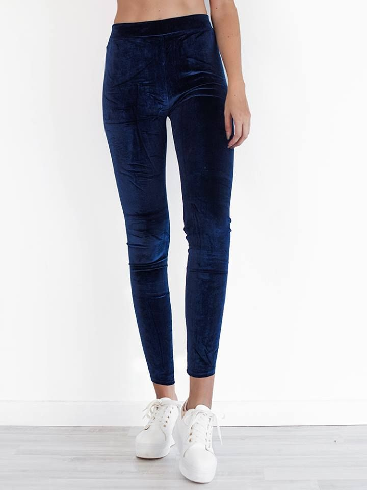 BLUE VELVET LEGGINGS 2