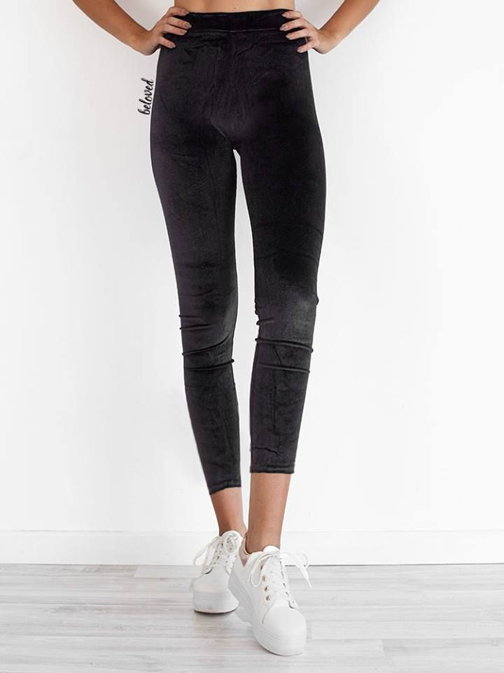 BLACK VELVET LEGGINGS 2