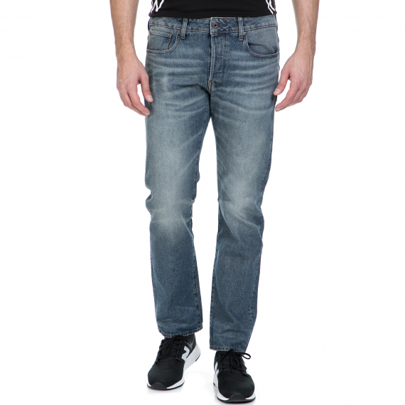 G-STAR RAW - Ανδρικό τζιν παντελόνι G-Star Raw Revend Straight μπλε με ξεβάμματα
