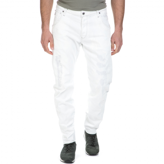 G-STAR RAW - Ανδρικό τζιν παντελόνι G-Star Raw Arc 3D Tapered λευκό