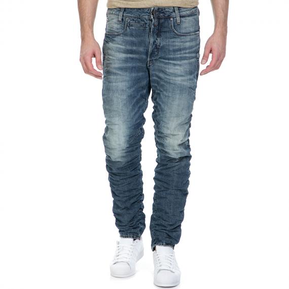 G-STAR RAW - Ανδρικό τζιν παντελόνι G-Star Raw Staq 3D Tapered μπλε με σούρες