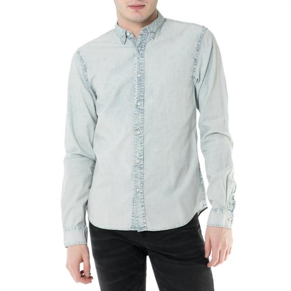 SCOTCH & SODA - Ανδρικό μακρυμάνικο τζιν πουκάμισο Scotch & Soda