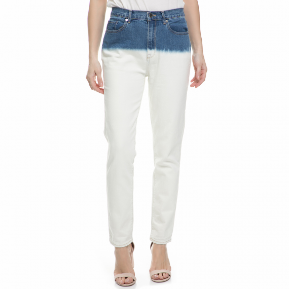 JUICY COUTURE - Γυναικείο τζιν παντελόνι dip dye Juicy Couture λευκό - μπλε