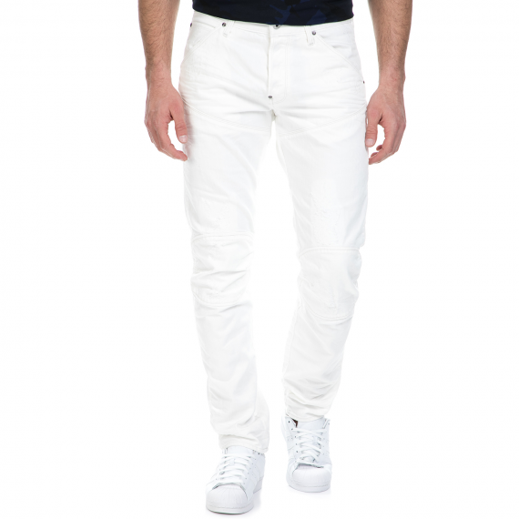 G-STAR RAW - Ανδρικό τζιν παντελόνι G-Star Raw 5620 3D Tapered λευκό