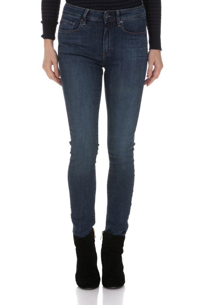 G-STAR - Γυναικείο ψηλόμεσο τζιν παντελόνι G-STAR RAW 3301 HIGH SKINNY μπλε