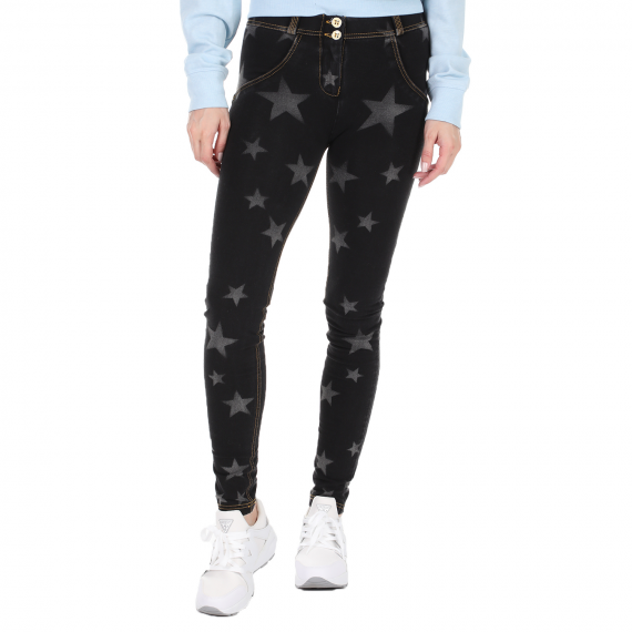 FREDDY ADULTS - Γυναικείο jean παντελόνι FREDDY ADULTS μπλε γκρι