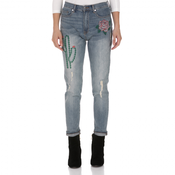 JUICY COUTURE - Γυναικείο τζιν παντελόνι JUICY COUTURE CACTUS μπλε