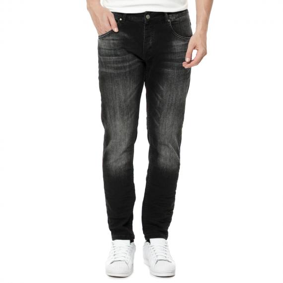 SORBINO - Ανδρικό τζιν παντελόνι SORBINO μαύρο με ξεβάμματα