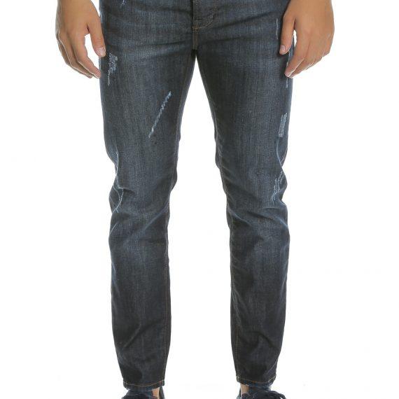 HAMAKI-HO - Ανδρικό τζιν παντελόνι HAMAKI-HO μπλε