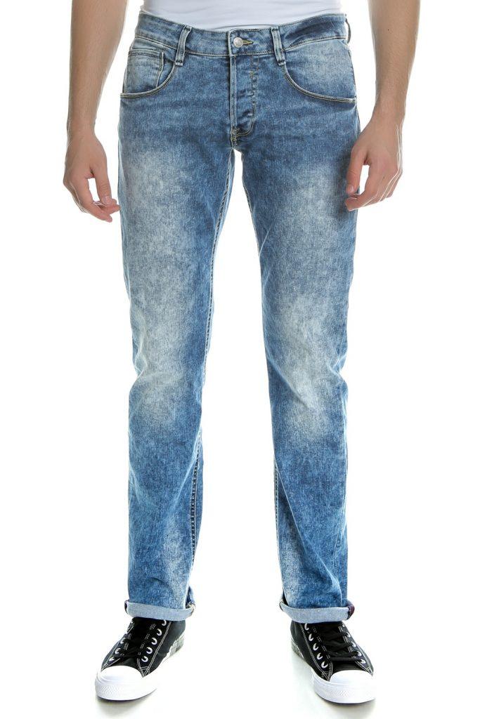 GUESS - Ανδρικό τζιν παντελόνι Guess μπλε - λευκό
