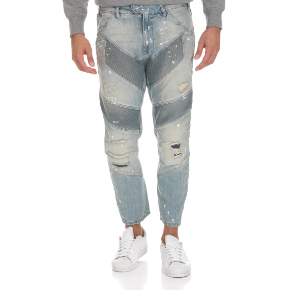 G-STAR RAW - Ανδρικό τζιν παντελόνι G-STAR RAW RE MOTAC-X 3D TAPERED CROPPED μπλε