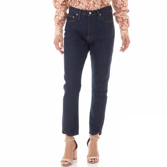 CALVIN KLEIN JEANS - Γυναικείο ψηλόμεσο τζιν παντελόνι CALVIN KLEIN JEANS μπλε