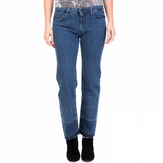 CALVIN KLEIN JEANS - Γυναικείο τζιν παντελόνι MID RISE STRAIGHT CALVIN KLEIN JEANS μπλε
