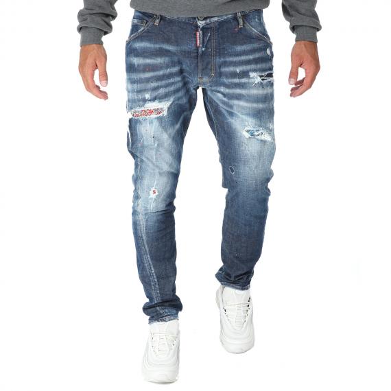 Dsquared2 - Ανδρικό jean παντελόνι Dsquared2 Classic Kenny Twist μπλε
