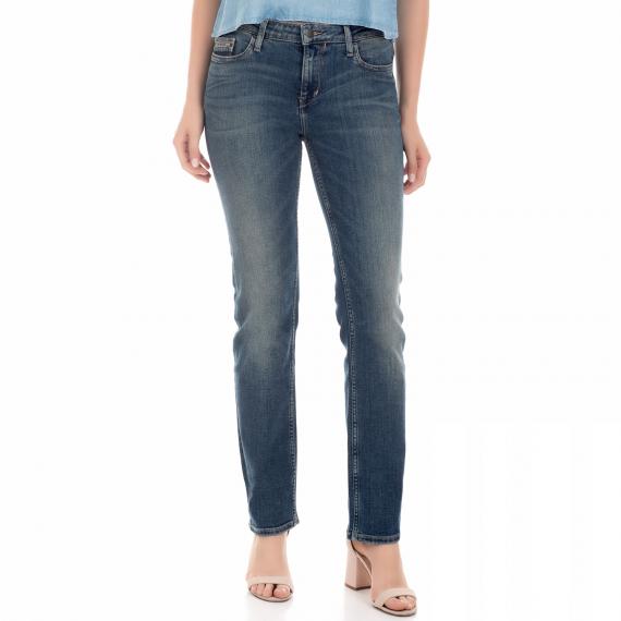 CALVIN KLEIN JEANS - Γυναικείο τζιν παντελόνι straight CALVIN KLEIN JEANS μπλε