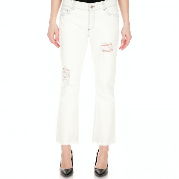BYBLOS - Γυναικειο τζιν παντελόνι BYBLOS λευκό