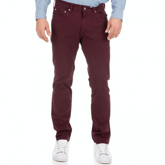 LEVI'S - Ανδρικό jean παντελόνι LEVI'S 511 SLIM WINETASTING BI μπορντό