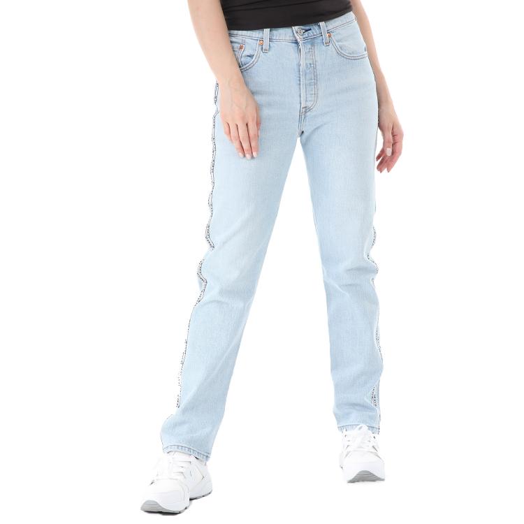 LEVI'S - Γυναικείο cropped jean παντελόνι LEVI'S 501 CROP DIBS μπλε