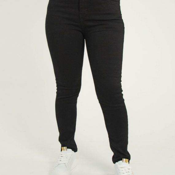 Γυναικείο μαύρο τζιν παντελόνι Plus Size Super Strech 5911