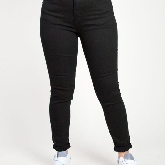 Γυναικείο μαύρο ελαστικό τζιν παντελόνι Plus Size LE1798