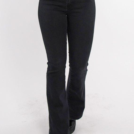 Γυναικείο μαύρο τζιν καμπάνα με ελαστικότητα LE3104L