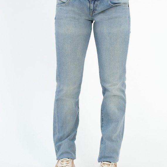 Γυναικείο μπλε τζιν παντελόνι ξέβαμμα Lynn L3842837
