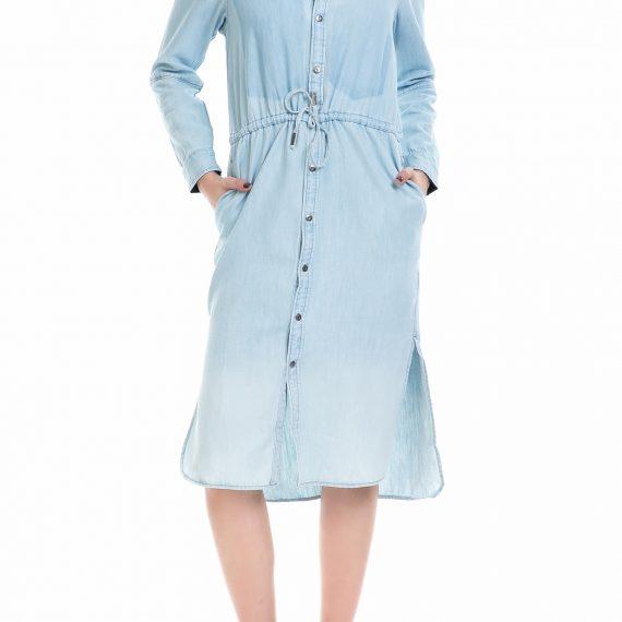 G-STAR RAW - Γυναικείο τζιν φόρεμα Modern Arc 3D G-STAR μπλε