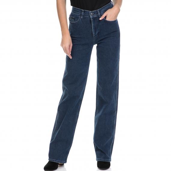 CALVIN KLEIN JEANS - Γυναικείο τζιν παντελόνι Wide leg - Tipped μπλε