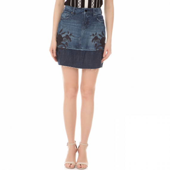 GUESS - Γυναικεία μίνι τζιν φούστα GUESS LAUREL μπλε